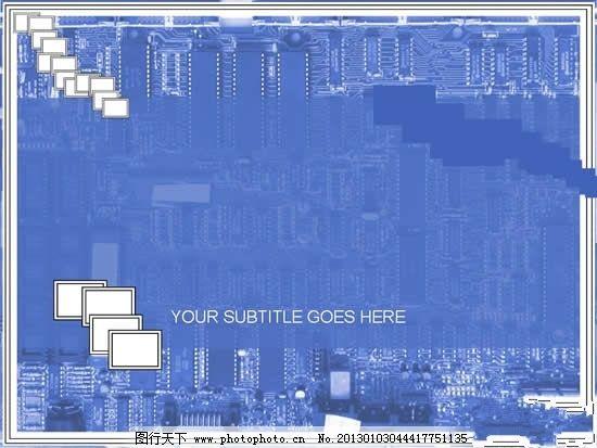 电路板科技ppt幻灯片 科技ppt演示文稿 电路板背景ppt模板 ppt 其他