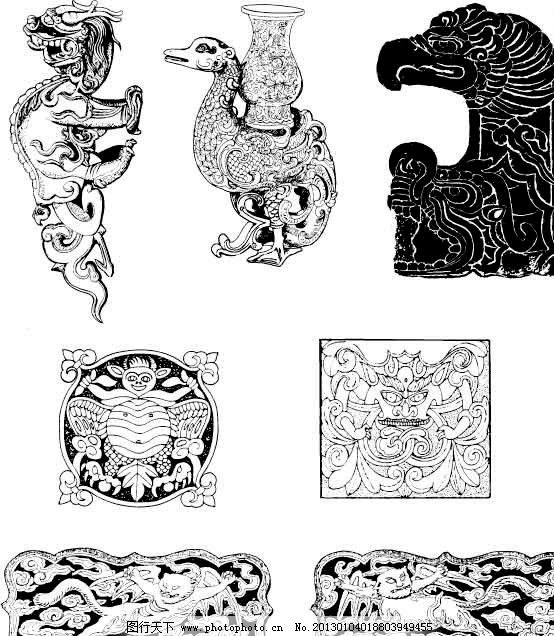 动物 兽 古典花纹图片