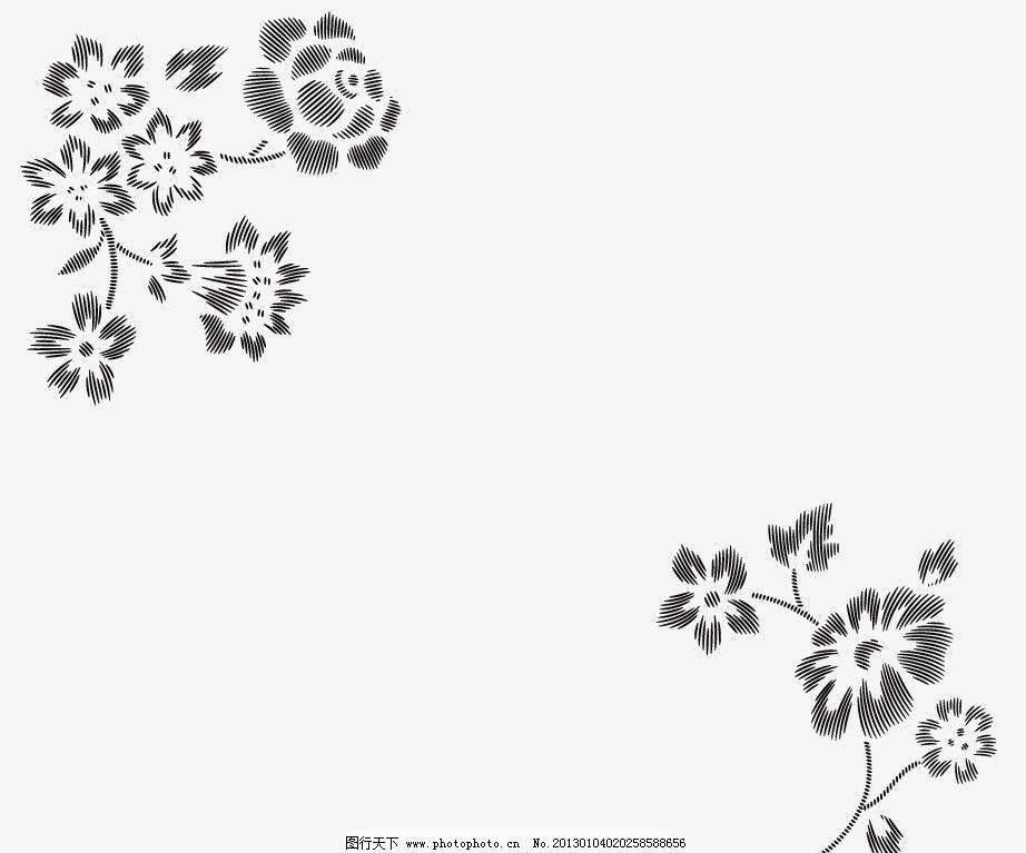 曲线线条花图片_背景底纹_底纹边框_图行天下图库