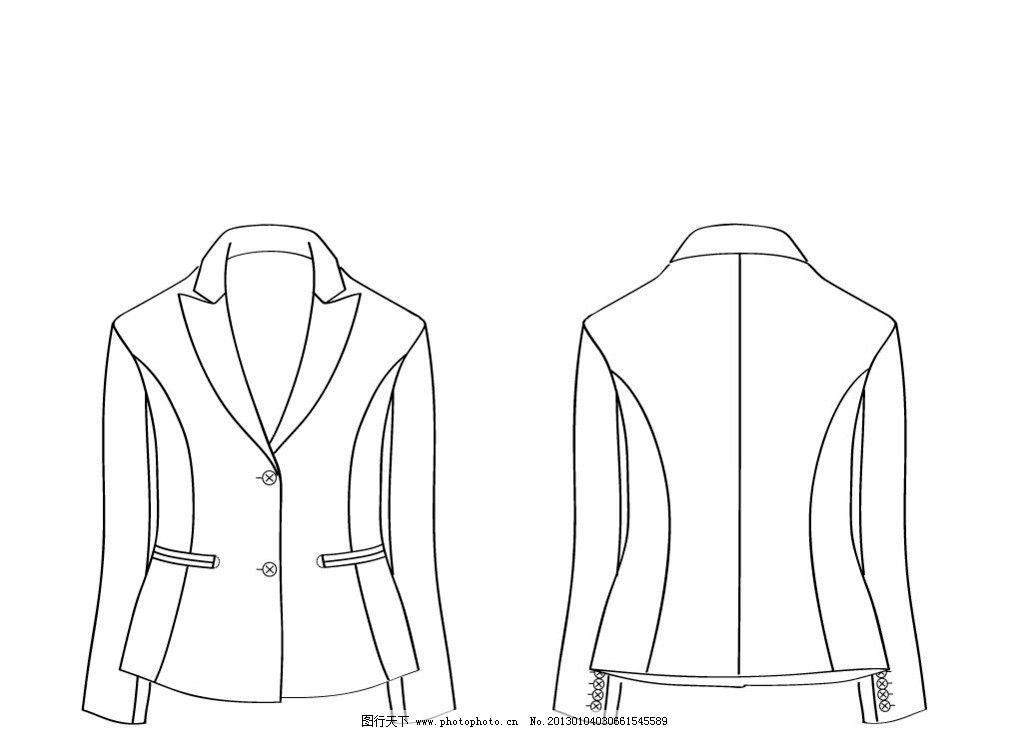 女士枪驳领西装 女式西装 服装设计 员工制服 商务套装 职业女性西装