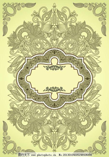 传统花纹 复古花纹图片素材 花纹边框 花纹线稿 线描纹样 欧式样式