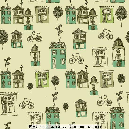 房子 楼房 欧式建筑图片素材 线描建筑 线描建筑 房子 城市房屋 楼房
