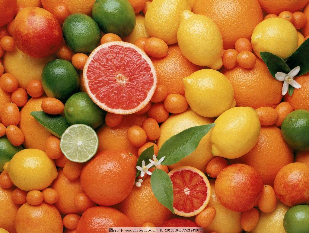 桔子橙子 桔子 橙子 柠檬 水果 生物世界 摄影 300dpi jpg
