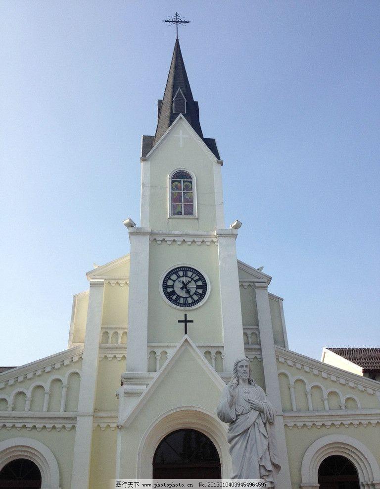 教堂 建筑 宗教 十字架 白色 祷告 建筑摄影 建筑园林
