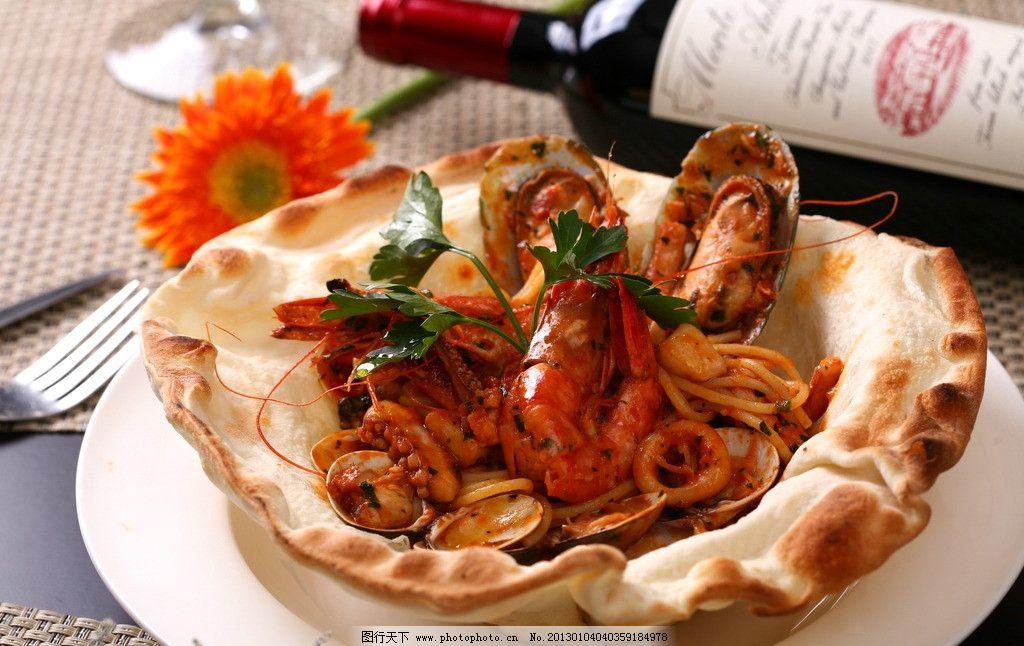 海鲜意大利面图片