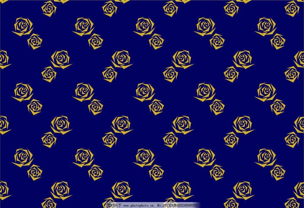 玫瑰花朵布匹印花 布匹印花 底纹背景 底纹边框 矢量 cdr