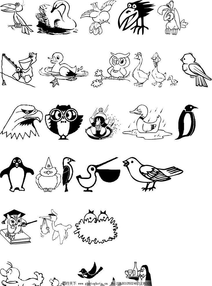 动物线条图片
