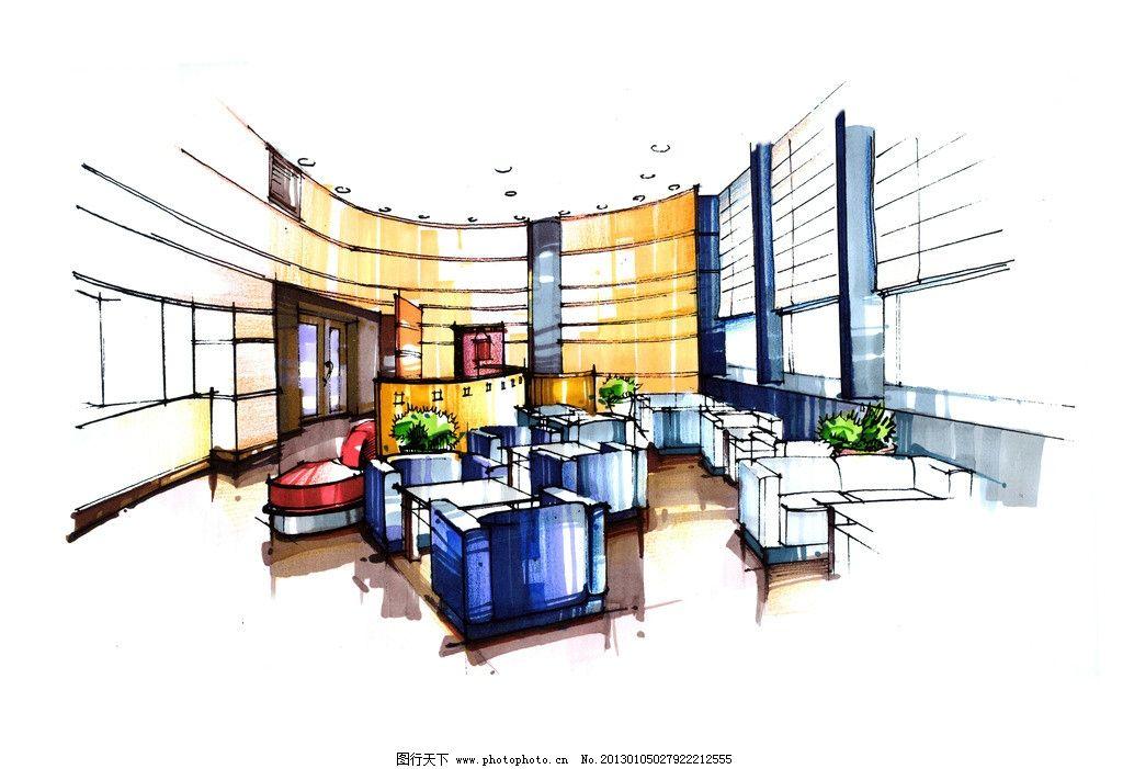 餐厅手绘 室内 设计 餐厅