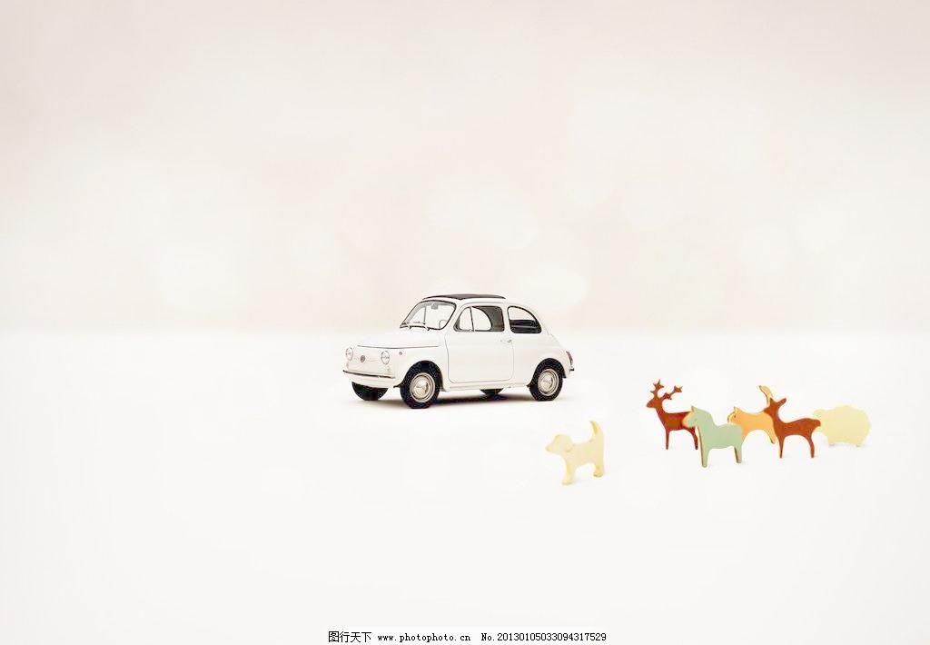 72dpi jpg 背景 背景底纹 底纹边框 卡通 浪漫 鹿 梦幻 麋鹿 汽车玩