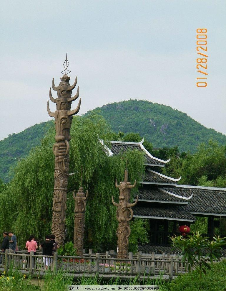中华图腾绿色手绘
