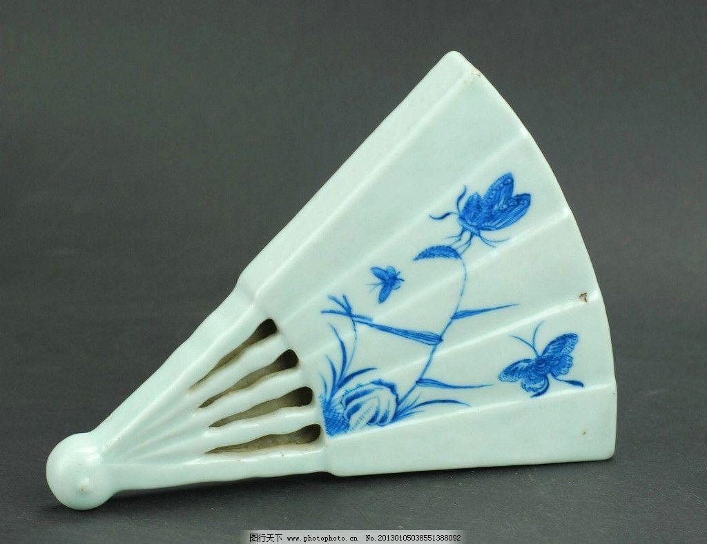 青花瓷 陶瓷 瓷器 官窑 清代 乾隆 青花扇形壁瓶 瓶 扇形 扇子 古玩