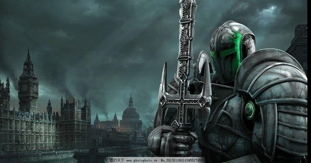 盔甲 战士 剑士 中世纪 古堡战争 将军 武士 头盔 云层 其他人物 人物