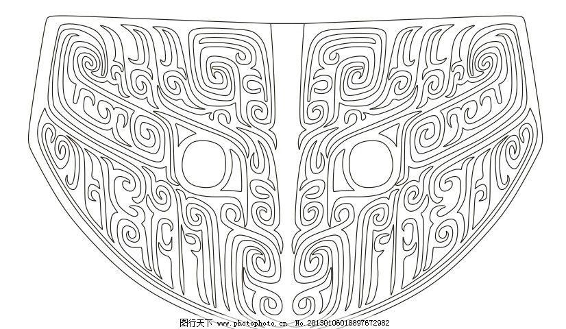 服装装饰青铜器纹饰 中国 吉祥 花纹 传统 图案 纹饰 福寿 文化 矢量