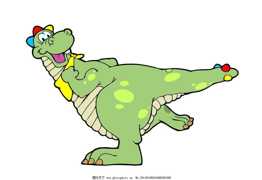 动物 卡通形象 恐龙 矢量图片