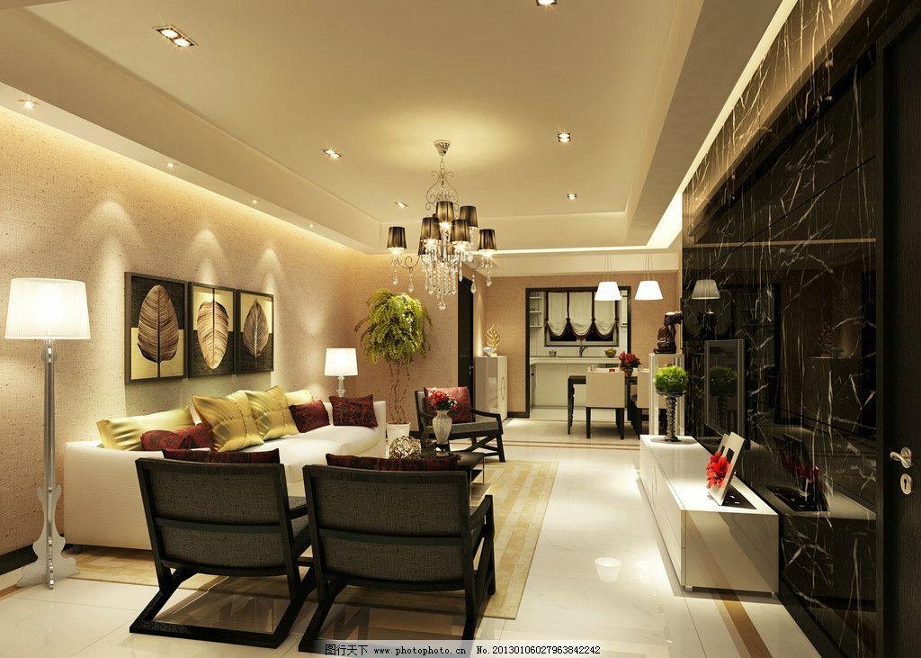 家装客厅      后现代风格 背景墙 电视 沙发 桌椅 室内设计 环境设计
