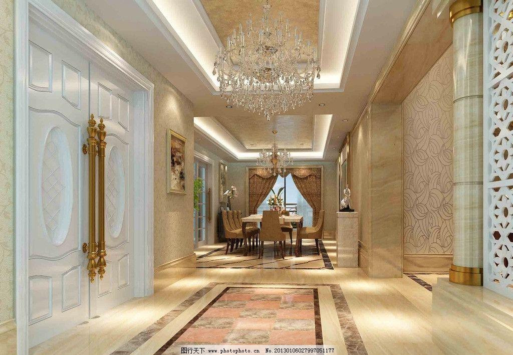 家装 欧式家装 吊灯 门 吊顶 隔断 装饰 室内设计 环境设计 设计 72
