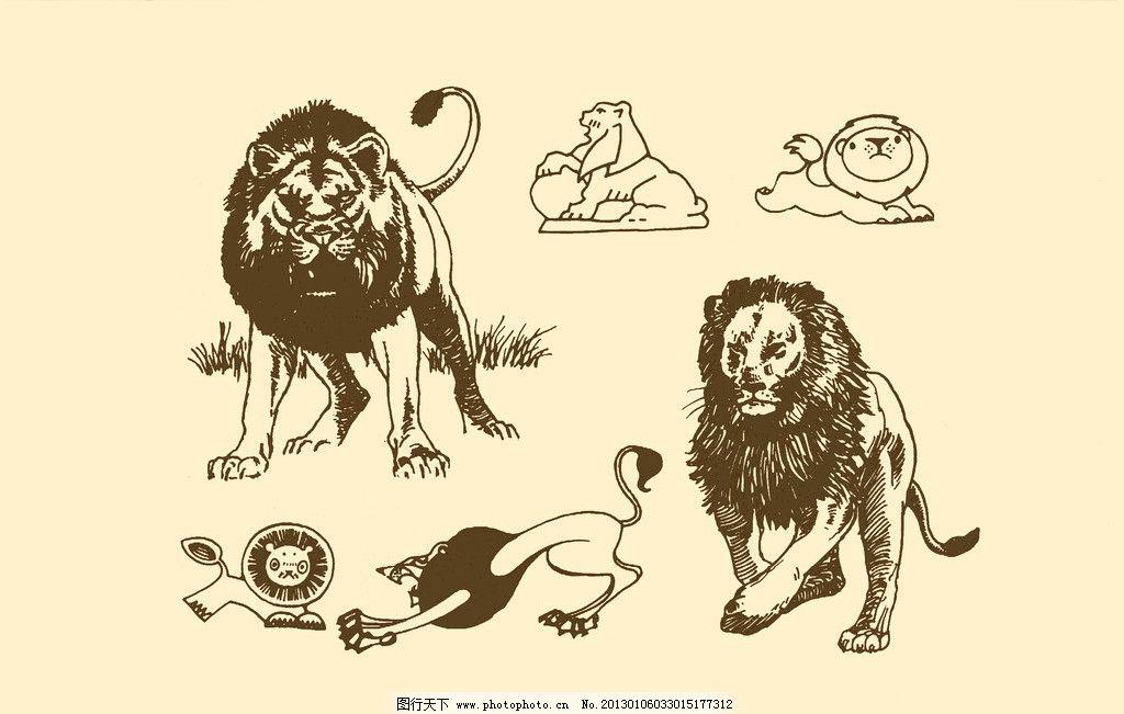 动物图案 狮子图片
