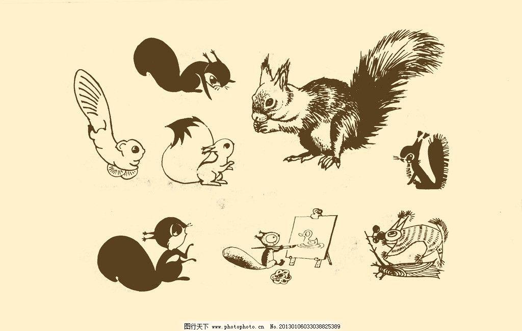儿童简笔画动物松鼠