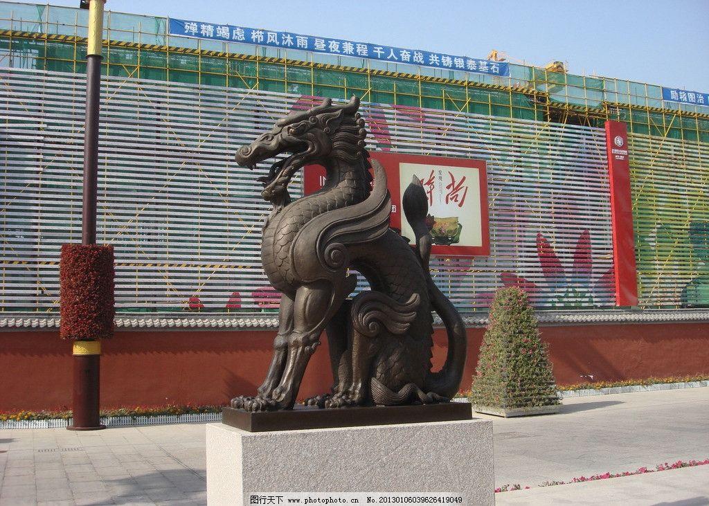 大雁塔雕塑 群雕 大雁塔南广场