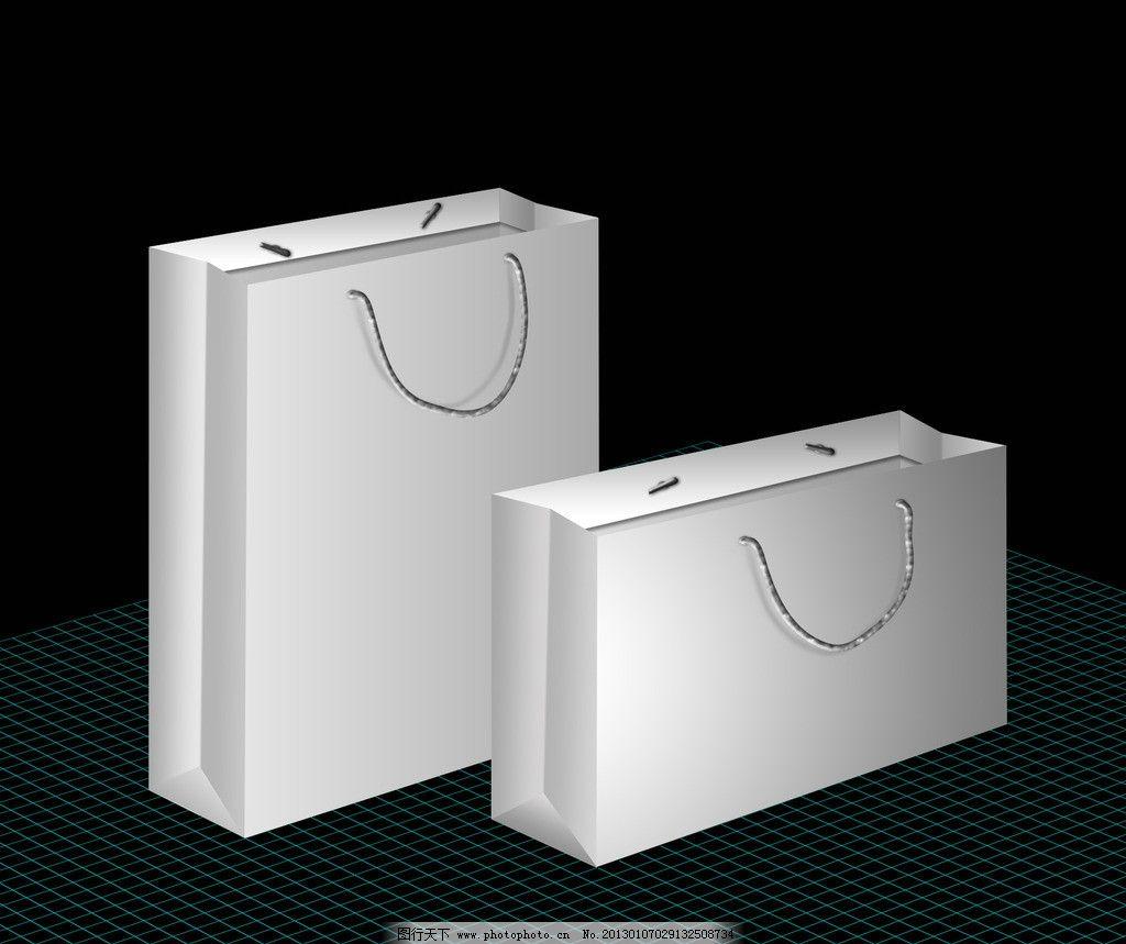 手提袋效果图 立体效果 纸袋包装模板 广告设计模板 源文件