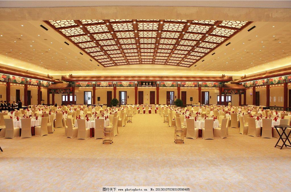宴会厅 餐厅 酒席 暖色调 大场景 桌椅 吊顶 中式 酒店 室内摄影
