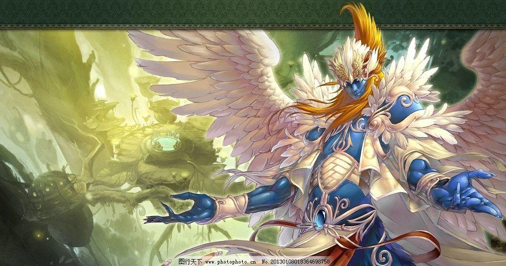 qq幻想 天使 翅膀 可爱 帅气 霸气 梦幻 唯美 帅哥美女 原画