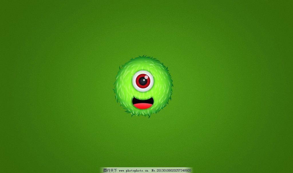 怪物绿色壁纸 壁纸 绿色 怪物 嘴巴 任务 眼睛 人物 圆形 可爱 背景底