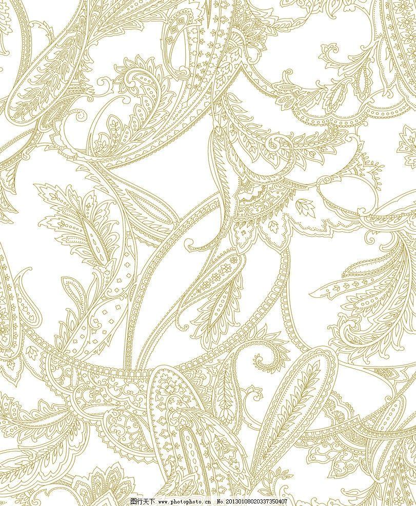 欧式花纹 服饰 布料 欧式 花纹 欧皇 纹饰 线条 花边花纹 底纹边框