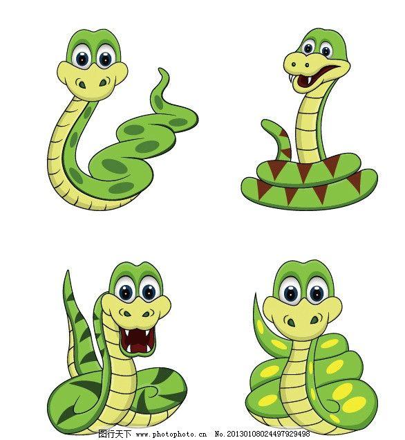 手绘蛇年小蛇图片