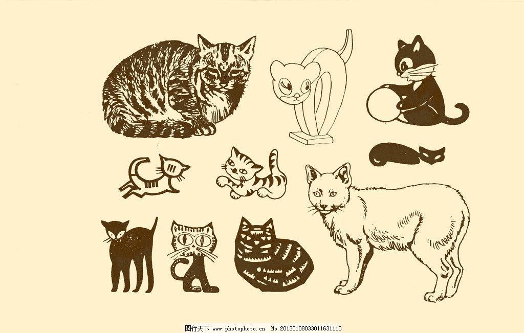 动物图案 猫图片
