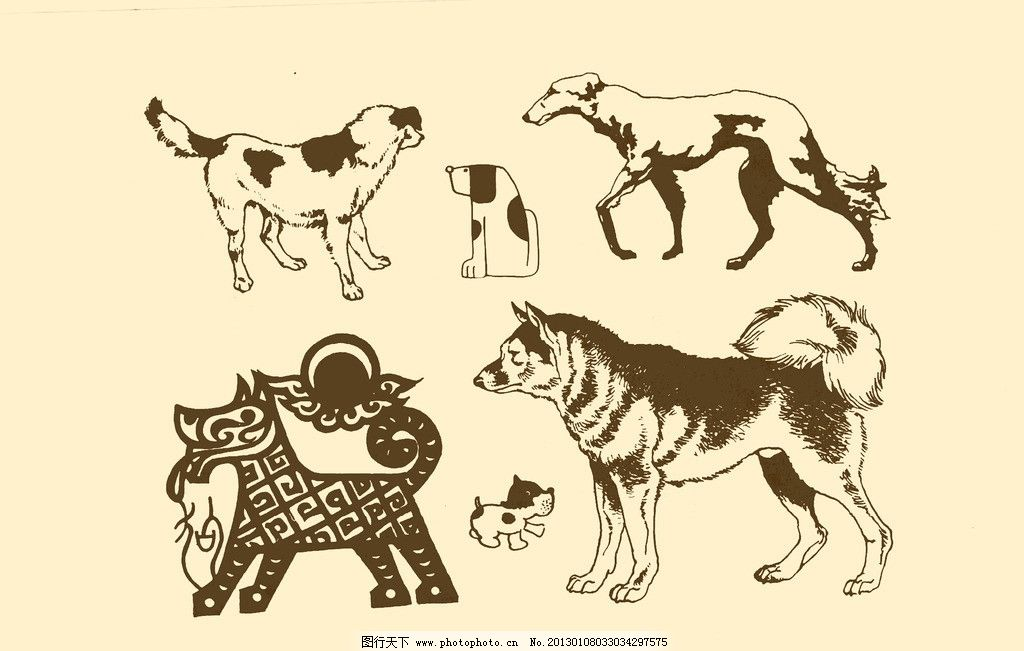 动物图案 狗图片