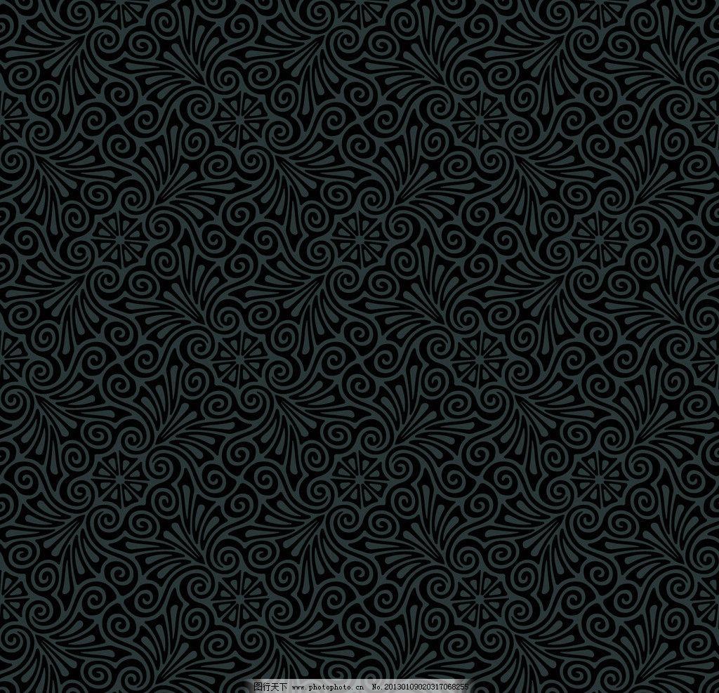 黑色花边框图片