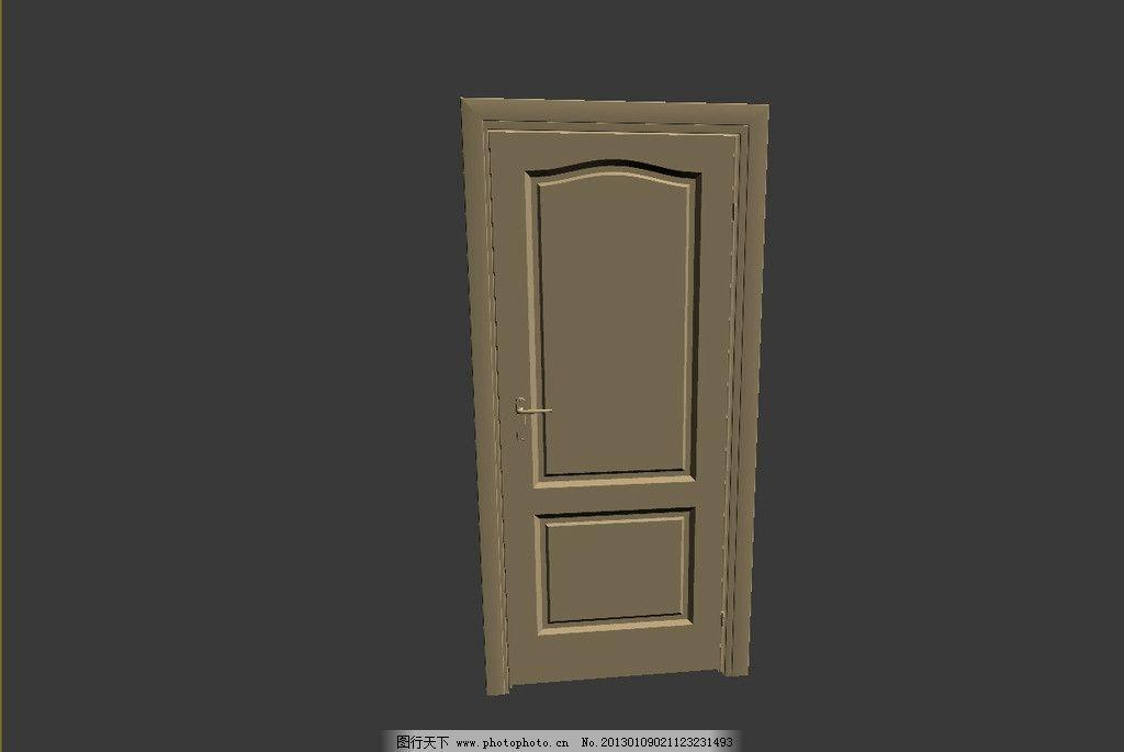门模型 欧式模型 欧式门 线脚模型 门拉手 拉手模型 效果图3d文件