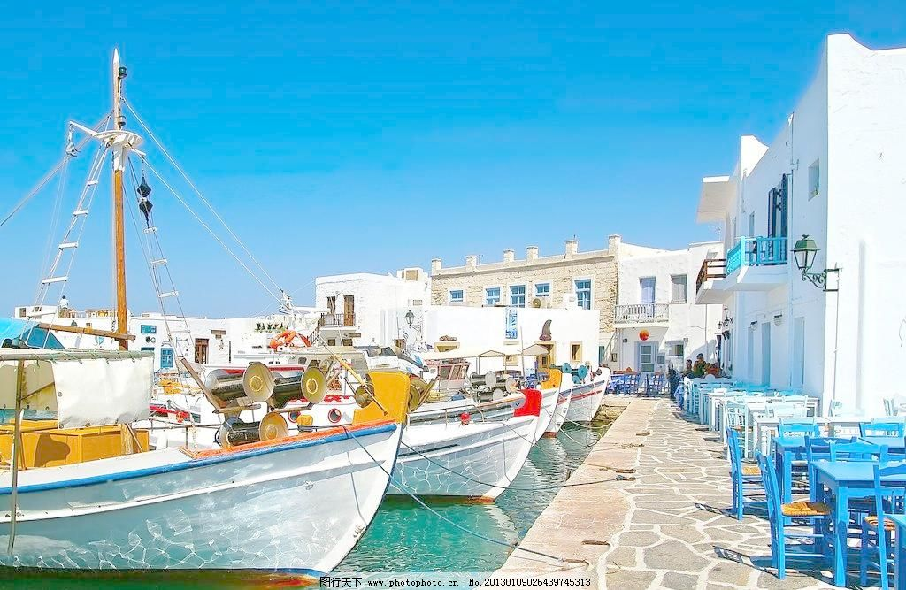 希腊景观 爱琴海 白色建筑 大海 地中海 度假 国外旅游 浪漫
