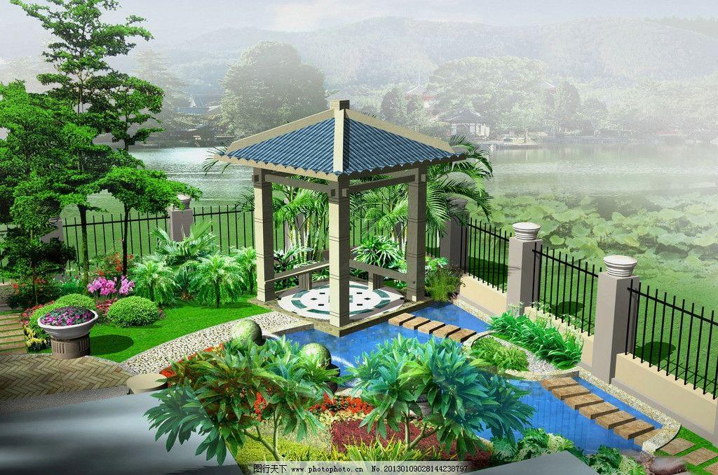 小别墅花园设计效果图图片