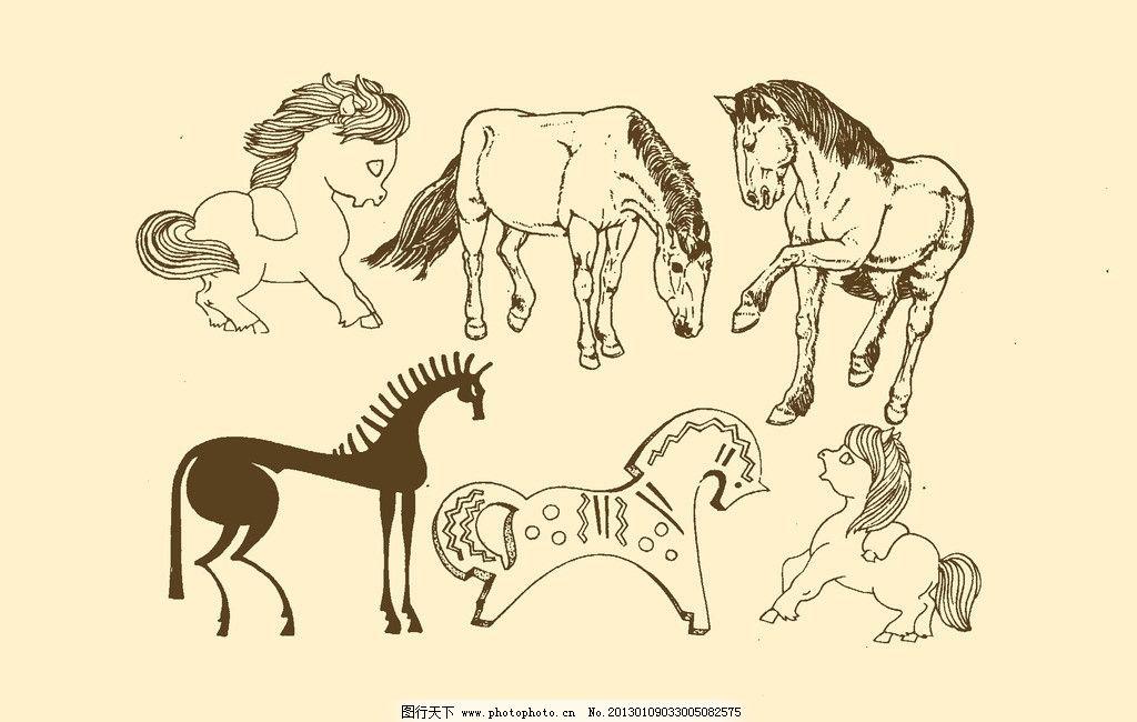 马俯视图简笔画-房间透视图简笔画