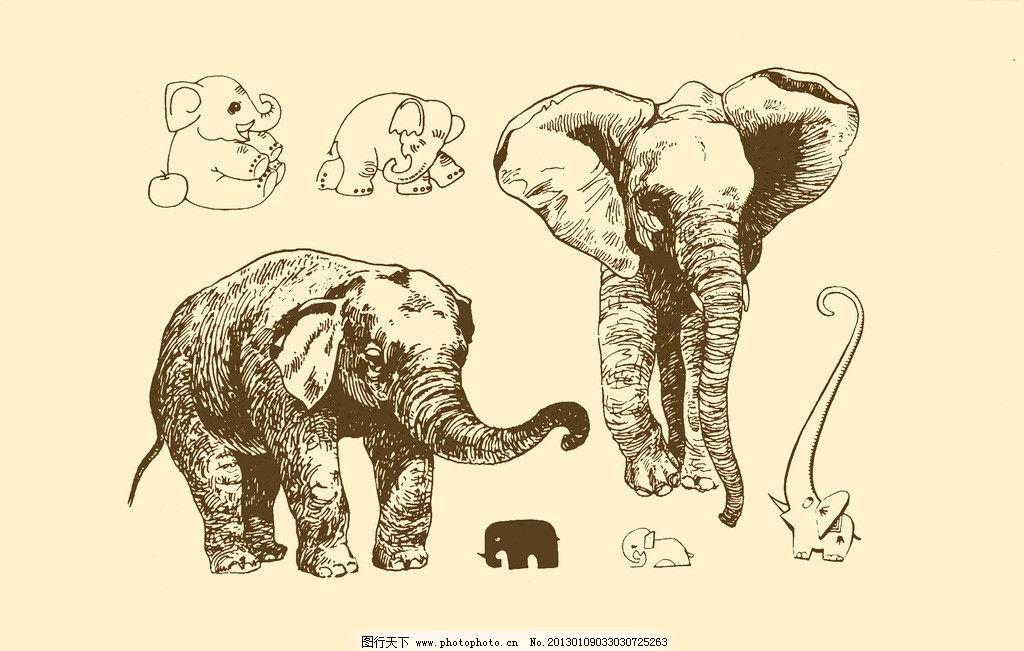 动物图案 大象图片