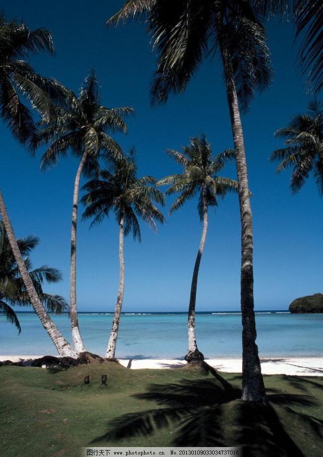 蓝色 蓝天 沙滩 滩风光 海滩 沙滩 海景 夕阳 椰树 蓝天 白云 大海