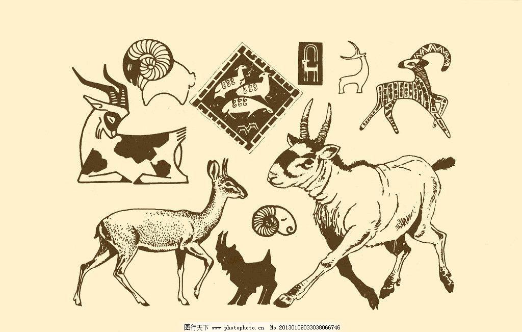 动物和动物脚印图案 卡通动物脚印简笔画