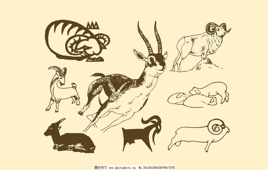 动物羊幼儿园简笔画图片