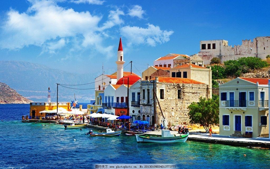 希腊景观 地中海 爱琴海 白色建筑 浪漫 旅游胜地 人间天堂 度假 旅行