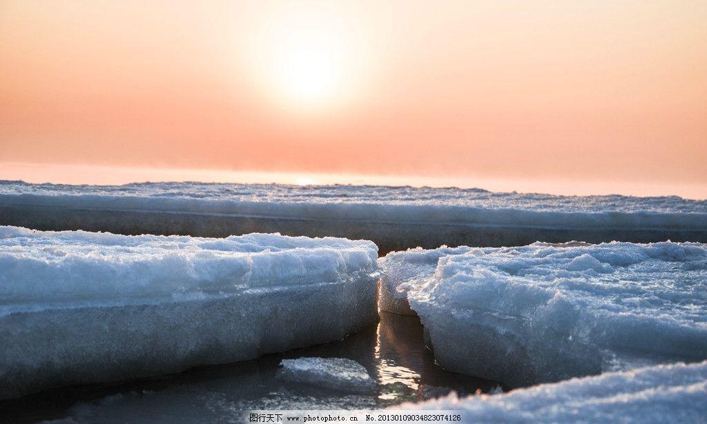 日出 大海 浮冰 冬天 秦皇岛 秦皇岛冬季日出 自然风景 自然景观 摄影