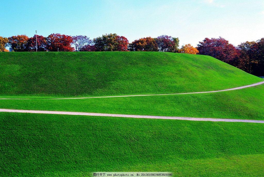 山坡风景 绿色 自然风景 自然景观 摄影
