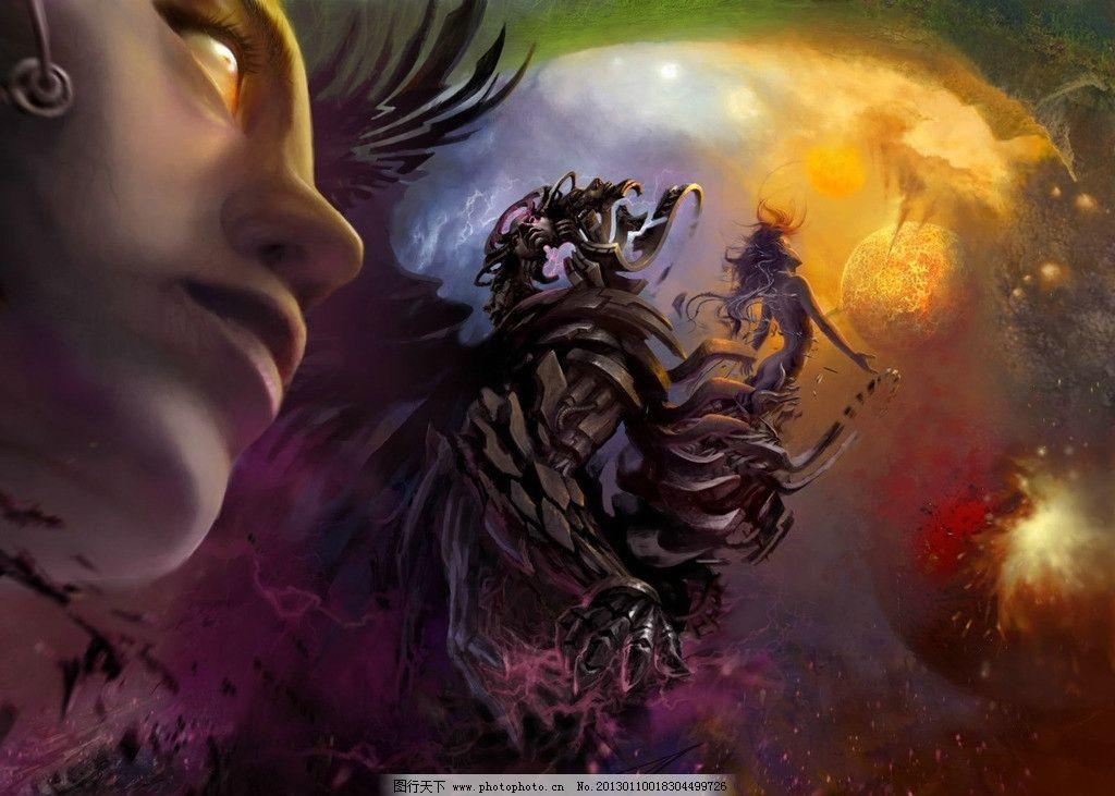 游戏人物 魔幻 机械 战士 星球 游戏 原画 漫画游戏 动漫人物 动漫