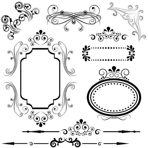 矢量古典花纹边框装饰素材