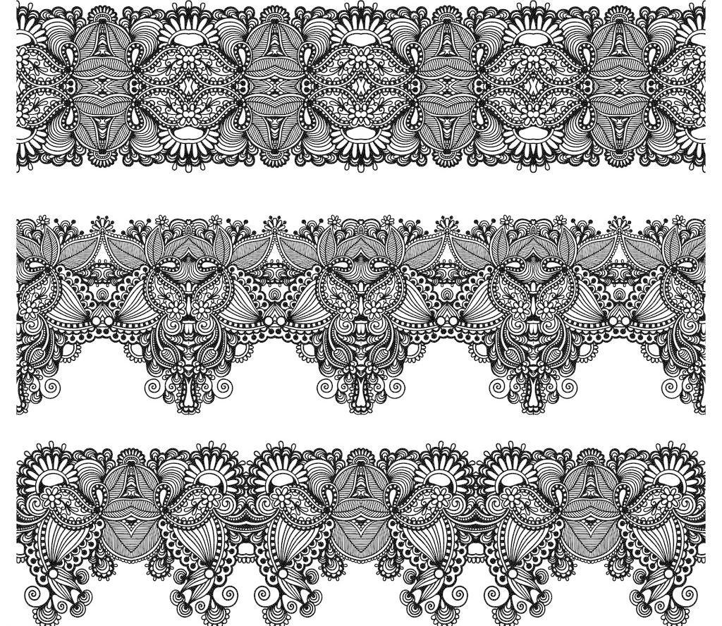 古典 花纹 节日素材 欧式 欧式手绘花纹矢量素材 欧式手绘花纹模板