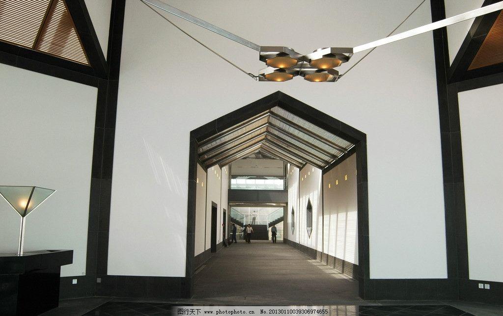 博物馆 苏州博物馆 室内拍摄 现代风格 木格栅 苏州 大门 走廊 连廊