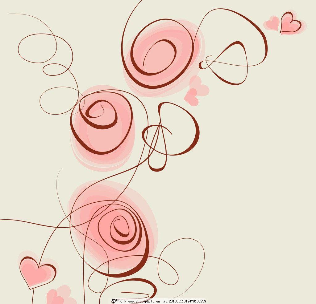 手绘情人节背景 情人节爱心背景 红桃心 七夕 爱情 心型 心形
