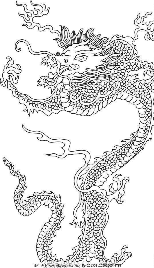 中式边框简笔画