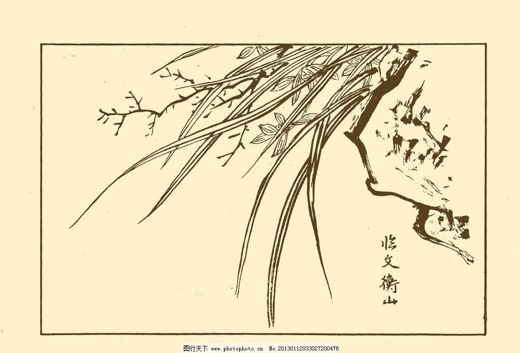 芥子园画谱 兰花 中国画 书画 白描 绘画 美术 兰草 源文件